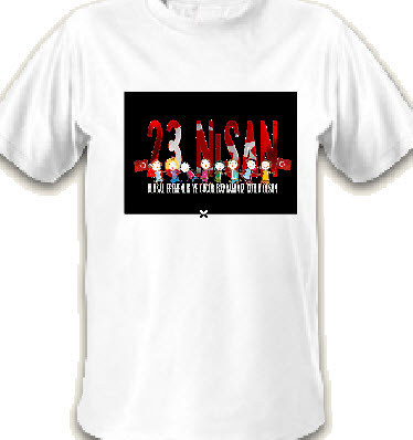 23 nisan beyaz tişörtleri