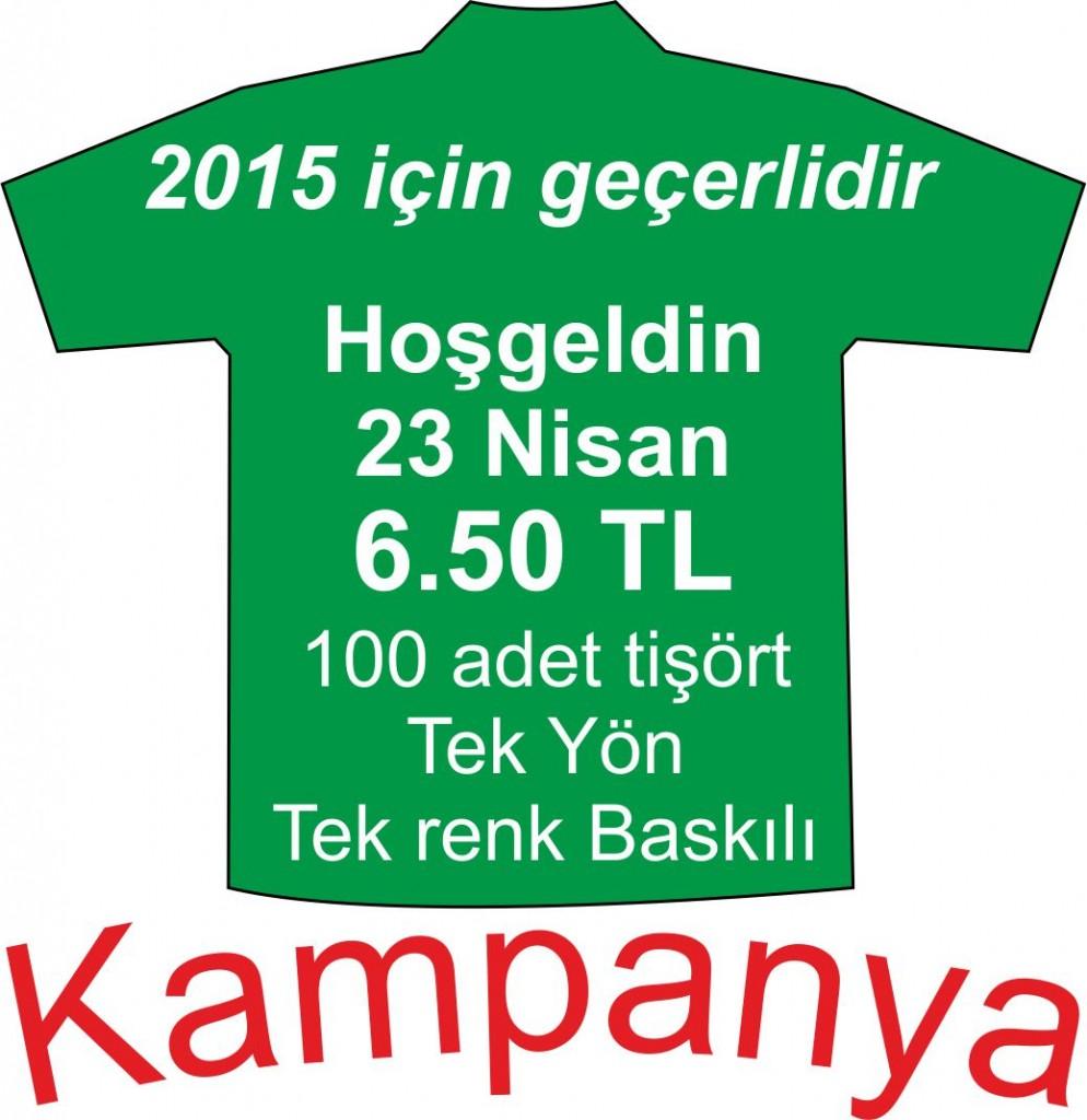 23 Nisan Kampanya Tişörtleri
