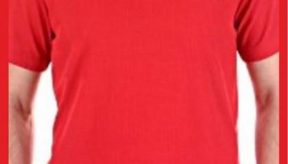 İzmir Tişört Baskı Kod:Kırmızı yuvarlak yaka tişört