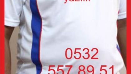 İzmir Forma Baskı Kod: Beyaz-mavi-kırmızı