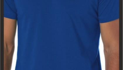 İzmir Tişört baskı Kod: Sax Mavi Yuvarlak tişört