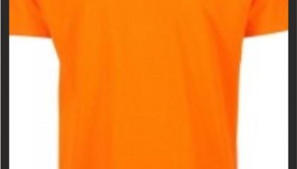 izmir tisort baski kod: turuncu yuvarlak yaka tişörtler