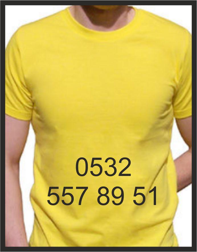 izmir tişört baskı kod: sarı yuvarlak yaka