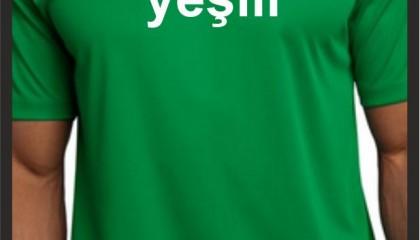 İzmir Tişört Baskı Kod: Brezilya Yeşili yuvarlak yaka tişört