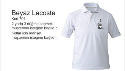Beyaz Polo Yaka Kod 701