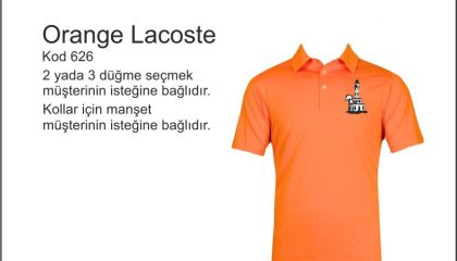 Orange Polo Yaka Kod 626