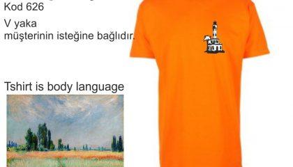 Orange Yuvarlak Yaka Tişört